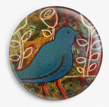 Blue Bird By Kim Ellery Licensed Art Needle Minder