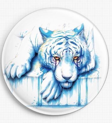 Blue Tears by Jonas Joedicke Licensed Art Needle Minder