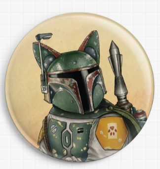 Boba Cat by Jenny Parks Licensed Art Needle Minder