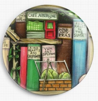 Bookshelf By Colin Thompson Licensed Art Needle Minder No: 2