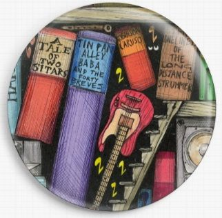 Bookshelf By Colin Thompson Licensed Art Needle Minder No: 9b