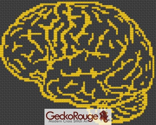 Brain Counted Cross Stitch Kit (FSBRN444)