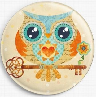Buho Summer Owl By Sandra Vargas Licensed Art Needle Minder