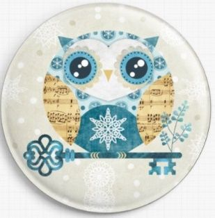 Buho Winter Owl By Sandra Vargas Licensed Art Needle Minder