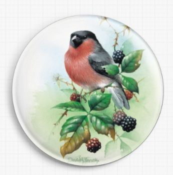 Bullfinch and Branble By David Finney Licensed Art Needle Minder