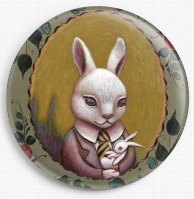 Bunny By Eya Claire Floyd Licensed Art  Needle Minder