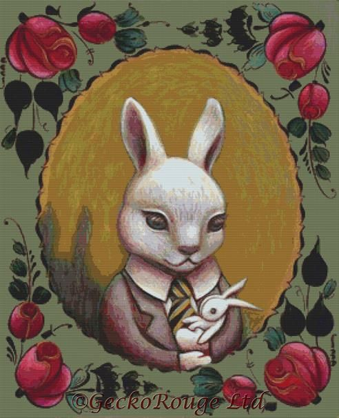 Bunny Cross Stitch Kit By Eya Claire Floyd