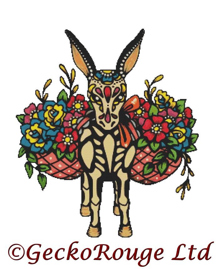 Burro - Donkey By Illustrated Ink Cross Stitch Kit