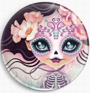 Camila Sugar Skull By Sandra Vargas Licensed Art Needle Minder