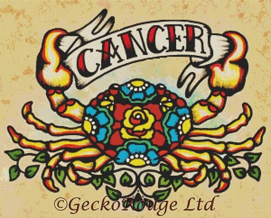 Cancer By Illustrated Ink Cross Stitch Kit Zodiac