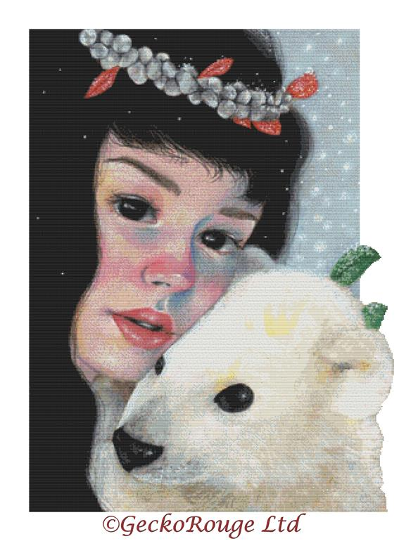 Casiphia's Companion By Candace McKay Cross Stitch Kit - Winter