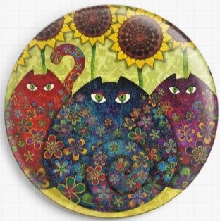 Cats By Sandra Vargas Licensed Art Needle Minder