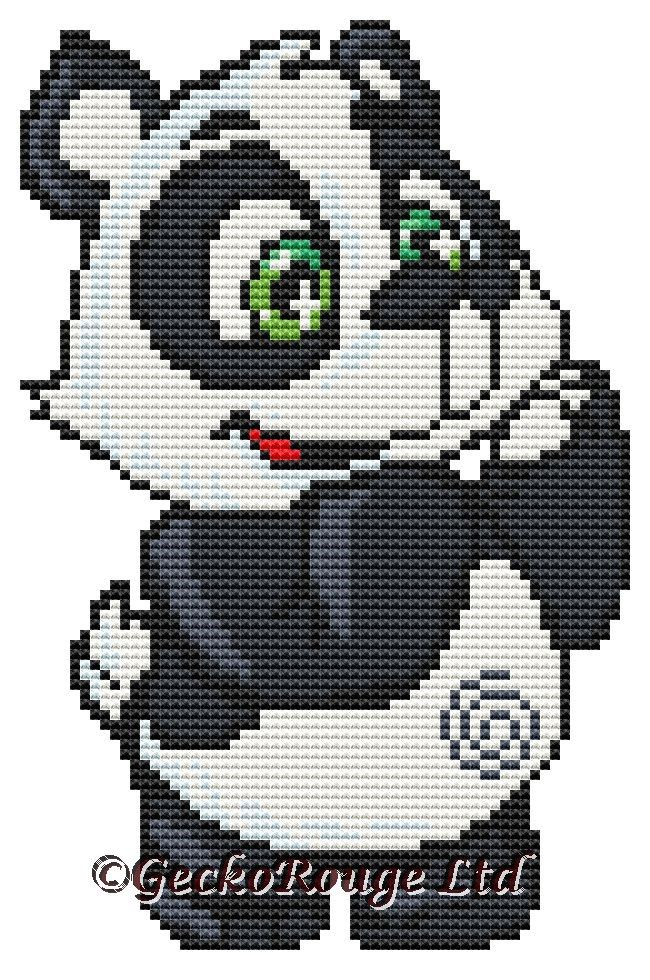 Charlie - Panda Swirlies Counted Cross Stitch Kit