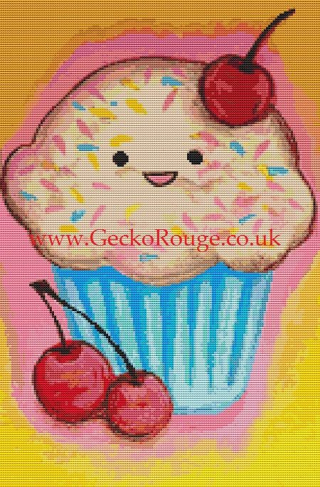 Cherry Cupcake By Megan Mars Cross Stitch Kit (MMCHYCC)