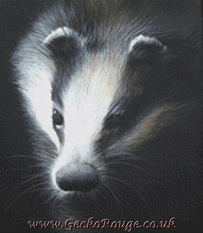 Cheshire Sett By David Finney Cross Stitch Kit (DFCHST) - Badger