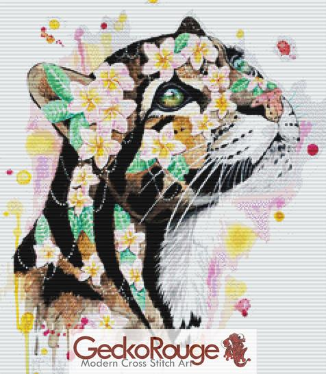 Clouded Leopard Cross Stitch Kit By Scandy Girl (SGLEOP)