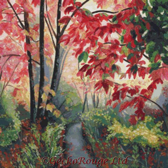 Colourful Woodland By Emily Luella Cross Stitch Kit