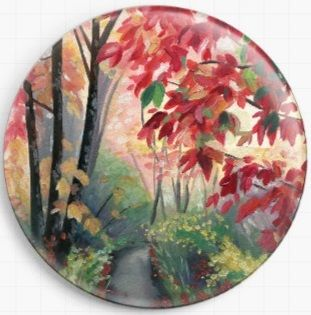 Colourful Woodland By Emily Luella Licensed Art Needle Minder