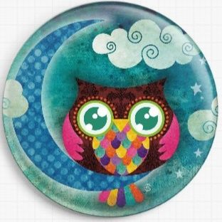 Crescent Owl By Sandra Vargas Licensed Art Needle Minder