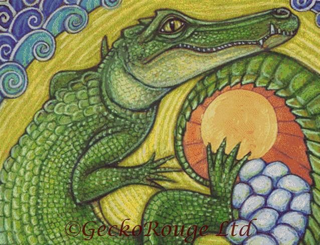 Crocodile Incubate By Lynnette Shelley Cross Stitch Kit