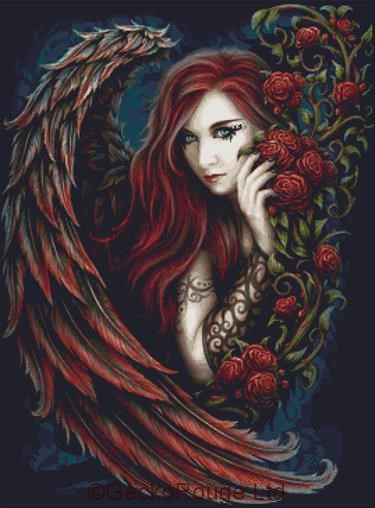 Daemon in Rosa By SheBlackDragon Cross Stitch Kit