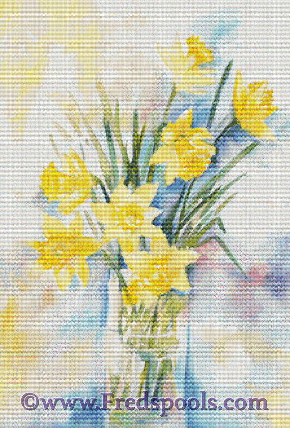 Daffodil By Diana Muller Cross Stitch Kit