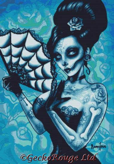 Day of the Dead By Marcus Jones Cross Stitch Kit