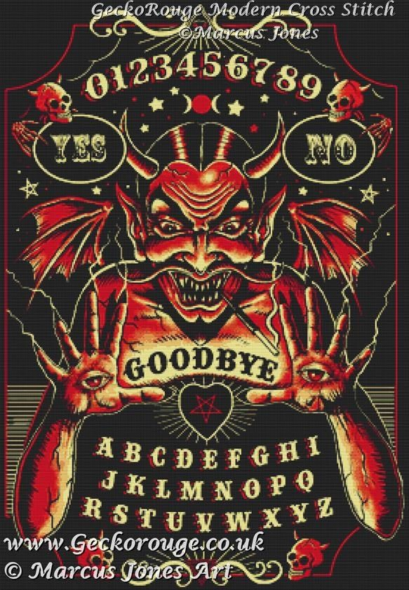 Devil Board By Marcus Jones Cross Stitch Kit (MJDVBRD)