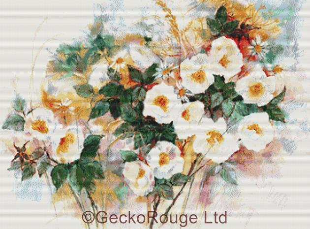 Dog Roses By Anne Muller Cross Stitch Kit