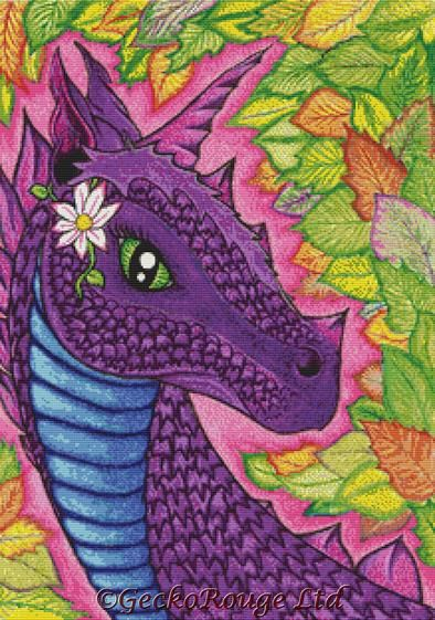 Earth Dragon By Angel Kitten Art Cross Stitch Kit