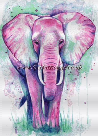 Elephant By Emily Luella Cross Stitch Kit (ELUEPHA7)