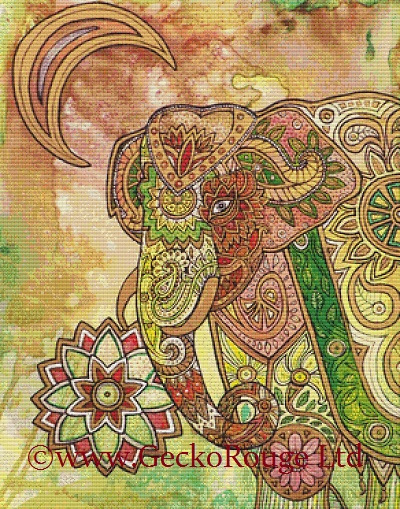 Elephant By Lynnette Shelley Cross Stitch Kit