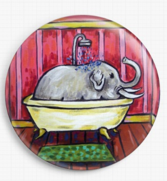 Elephant In The Bath By Jay Schmetz Licensed Art Needle Minder