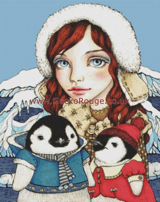 Explorers By Tanya Bond Cross Stitch Kit (TBEXPR) - Penguin