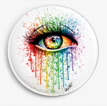 Eye Candy By Carissa Rose Licensed Art Needle Minder