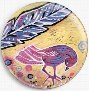 Feathering Spring By Lindy Gaskill Licensed Art Needle Minder