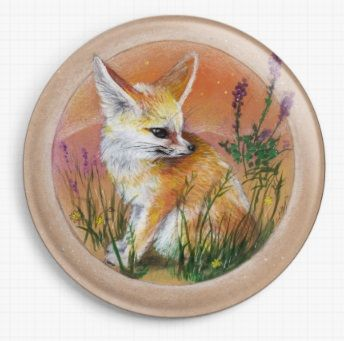 Fennec By Candace McKay Licensed Art Needle Minder