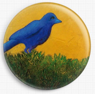 Field Bird By Kim Ellery Licensed Art Needle Minder