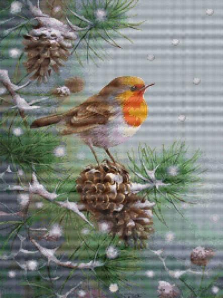 Fir Falling Snow By David Finney Cross Stitch Kit
