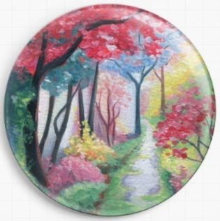 Follow The Path By Emily Luella Licensed Art Needle Minder