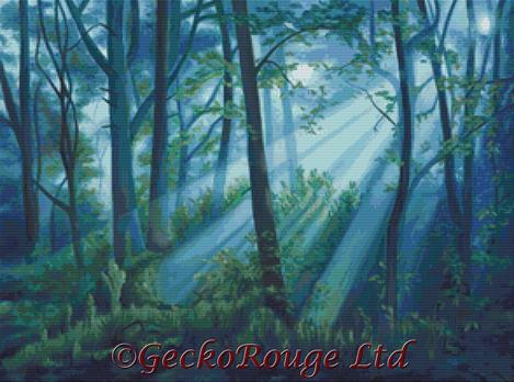 Forest Light By Emily Luella Cross Stitch Kit (ELFRTLGT)