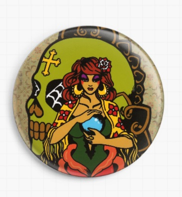 Fortune Teller By Illustrated Ink Licensed Art Needle Minder