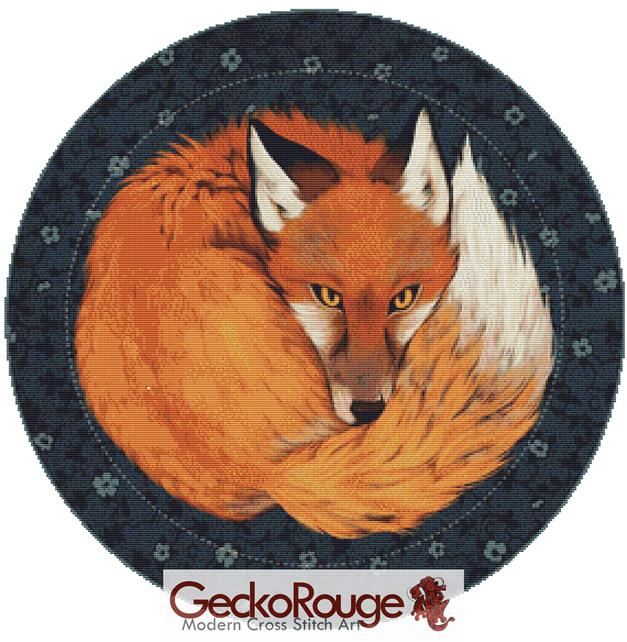 Fox Garden By Dailen Ogden Cross Stitch Kit (DOFOX)
