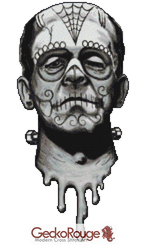 Frank De Los Muertos By Shayne Of The Dead Cross Stitch Kit