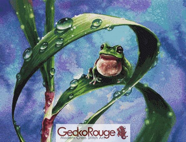 Frog by Zazac Namoo - Crop Cross Stitch Kit (ZNFRG)