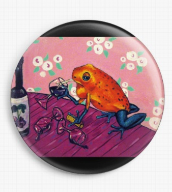 Frog In A Wine Bar By Jay Schmetz Licensed Art Needle Minder