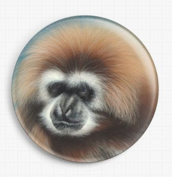 Funky Gibbon By David Finney Licensed Art Needle Minder