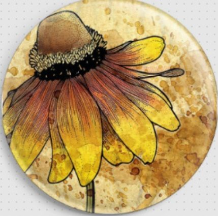 Gaillardia Aristata by Barbara Glatzeder Needle Minder