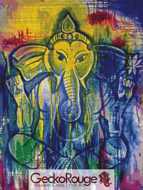 Ganesh Pamela Varacek Cross Stitch Kit (PVGNSH)