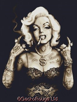 Gangster Marilyn By Marcus Jones Cross Stitch Kit